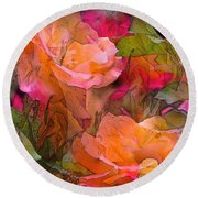 Rose 146 Round Beach Towel