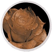 Rose Art  Sepia Round Beach Towel