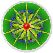 Rose At The Center Round Beach Towel