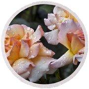 Rose Flower Series 7 Round Beach Towel
