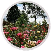 Rose Hill Round Beach Towel