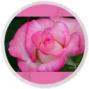 Rose Macro Round Beach Towel