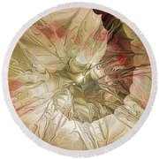 Rose Petal Highway Round Beach Towel