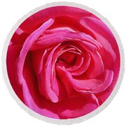 Rose Rose Round Beach Towel