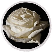 Rose Silver Anniversary Round Beach Towel