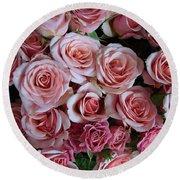 Roses Galore Round Beach Towel