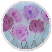 Roses Round Beach Towel