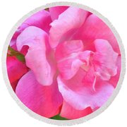 Roses Perfectly Pink Round Beach Towel