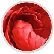 Rosie Red Round Beach Towel