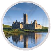 Rosserk Friary, Co Mayo, Ireland 15th Round Beach Towel