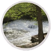 Rouge River At Fair Lane Round Beach Towel