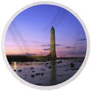 Round Tower, Larne, Co Antrim, Ireland Round Beach Towel