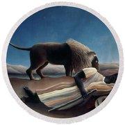 Rousseau: Gypsy, 1897 Round Beach Towel