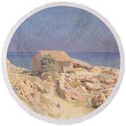 Roussillon Landscape Round Beach Towel