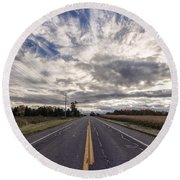 Route 436 Round Beach Towel