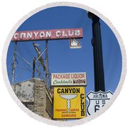 Route 66 Canyon Club Round Beach Towel
