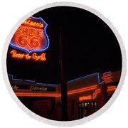 Route 66 Cruisers Round Beach Towel