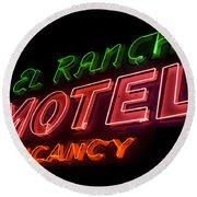 Route 66 El Rancho Round Beach Towel