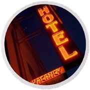 Route 66 Hotel Williams Round Beach Towel