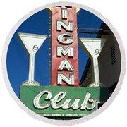 Route 66 Kingman Club Round Beach Towel