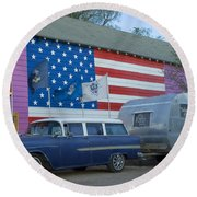 Route 66 Nomad Round Beach Towel