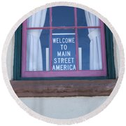 Route 66 Welcome Sign Round Beach Towel