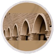 Row Of Arches Round Beach Towel