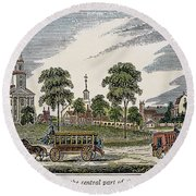 Roxbury, Massachusetts Round Beach Towel