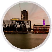 Royal Family And Oxo Tower Round Beach Towel