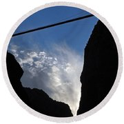 Royal Gorge Bridge And Sky Round Beach Towel