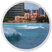 Royal Hawaiian Hotel Round Beach Towel