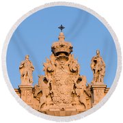 Royal Palace In Madrid Architectural Details Round Beach Towel