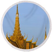 Royal Palace Roof. Round Beach Towel