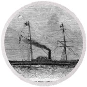 Royal Yacht, 1843 Round Beach Towel