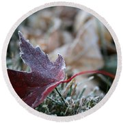 Ruby Frost Round Beach Towel