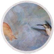 Ruby Throated Hummingbird 2 Round Beach Towel