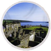 Ruins Of A Fort, Charles Fort, County Round Beach Towel