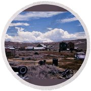 Ruins Of Bodie Round Beach Towel