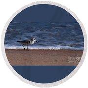 Run By The Sea Round Beach Towel