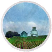 Rural Farm Round Beach Towel