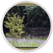 Rural Landscape Round Beach Towel