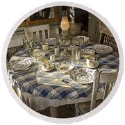 Rural Table Setting For Four No.3121 Round Beach Towel