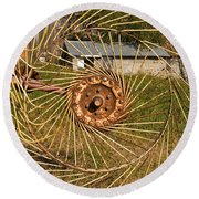 Rural Vista Round Beach Towel