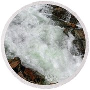 Rushing Waters Glen Alpine Creek Round Beach Towel