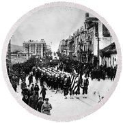 Russia: Allied Troops, C1919 Round Beach Towel