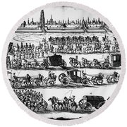Russia: Procession, 1698 Round Beach Towel