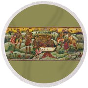 Russian Icon: Dice Players Round Beach Towel