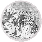 Russian Visit, 1863 Round Beach Towel