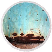 Rust And Paint 1 Round Beach Towel