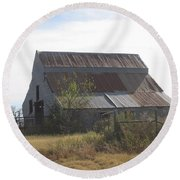 Rusted Barn Round Beach Towel